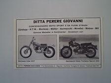 advertising Pubblicità 1970 MOTO MONTESA COTA 247/AERMACCHI GRAN TURISMO 350