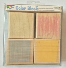 Color Blocking Rubber Stamps Stipple Square Background Texture Stampede Set Rare