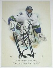 ROBERTO LUONGO SIGNED 08-09 UPPER DECK CHAMPS VANCOUVER CANUCKS CARD AUTOGRAPH!!