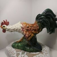 """Vintage Large Ceramic Hand Painted Rooster.  Made In Itay.    """"Beautiful"""""""