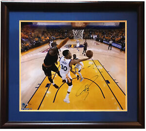 Stephen Steph Curry signed 20x24 Lebron Finals photo framed auto Steiner /30