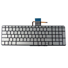 Silver Backlit Keyboard for Hp Envy 15-U 15T-U Laptops