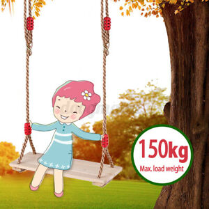 Holz Schaukelsitz Schaukelbrett Kinderschaukel Erwachsene verstellbaren 150kg