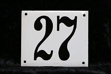 Haus Nummer 27 Schild, Emaillehausnummer, Emailleschild, unikat