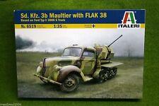 Sd. Kfz. 3b MAULTIER  with FLAK 38 1/35 Scale Italeri Kit 6519