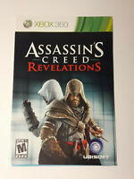 Xbox 360 Assassin`s Creed Revelations INSTRUCTION MANUAL ONLY !