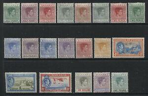 Bahamas KGVI 1938-52 complete set mint o.g. hinged