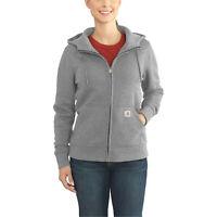 CARHARTT Women's Full-Zip 'Clarksburg' Hoodie (Large, Asphalt) Coat Jacket $69