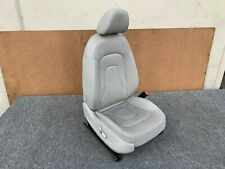 13-16 AUDI A4 S4 B8.5 RIGHT SIDE LEATHER HEATED SEAT ASSEMBLY OEM GRAY COLOR