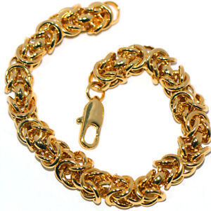 Big Heavy Mens Solid Gold Filled Chain Bracelet Bangle Hip Hop Party Jewelry