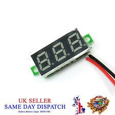 0.28 LED Blue Digital Panel Voltmeter Wire Module Voltage Meter Tester Car