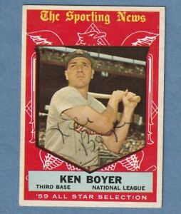 1959 Topps St. Louis Cardinals All-Star Ken Boyer Signed Autographed Card #557
