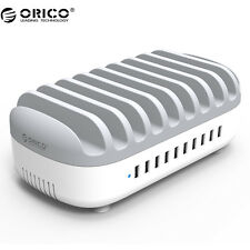 ORICO 10 Ports Multi 120W 5V2.4A USB Charger Station Dock with Holder for Phone