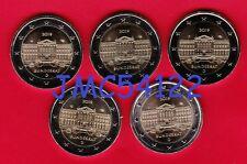 5 pièces de 2 €uro Commémorative Allemagne 2019 ADFGJ   BUNDESRAT   **NEUVES**