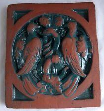 Mercer Moravian Pottery & Tile Works Arts & Crafts Medieval Design Doves & Snake