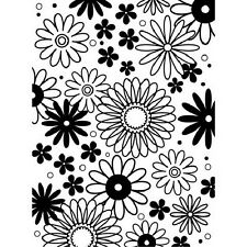Darice EMBOSSING FOLDER Flower Frenzy Fits Standard Machines