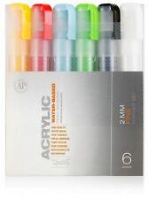 Montana CANS Acrílico Marker Pen Set - 2mm Marcadores Finos-Paquete de 6