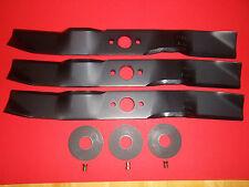 """3 REPLAC HUSQVARNA BLADE KITS FITS RIDER RIDER 16 155 AWD W/41"""" SET OF 3"""