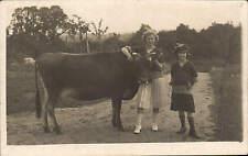Bordon posted Two Girls & Cow by R. G. Waller, Photographer, Bordon, Hants.