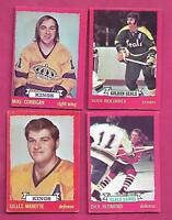1973-74 OPC NHL PLAYERS CARD LOT  (INV# J0158)