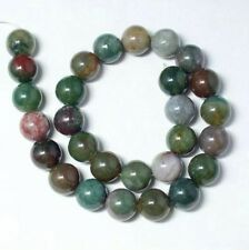 Beau Indien Agate 14mm Ronde  Perles  1 Fil