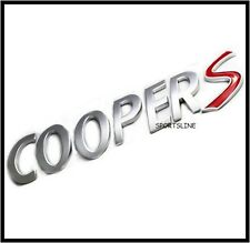 Cooper S Badge Emblem Decal Letters Sticker Mini Boot Tailgate Rear Trunk T36