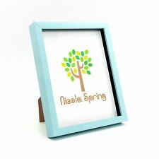 Box Picture Frame Deep 3D Photo Display 8x10 Inch Standing Hanging Blue