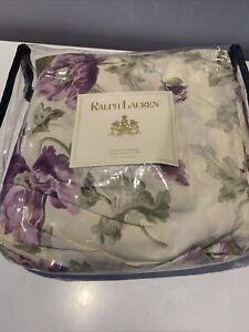 RALPH LAUREN VIOLETTE PURPLE FLORAL KING  BEDSKIRT NEW 78 X 80 IN MATTRESS