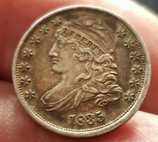 More details for high grade united states 1835 capped bust dime very good detail toned rare thus