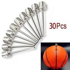 30Pcs Inflating Needle Pin Nozzle Basketball Football Volleyball Ball Air Pump