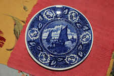 Stunning Delft Blue & White Nautical Theme Cabinet Plate-Marked-Deep Blue-Boats
