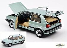 VW Golf CL Volkswagen 2 II 1987 light green metallic 1:18 Norev 188553