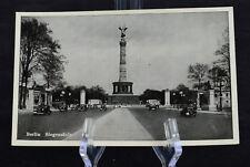 Postcard Berlin Siegessaule Germany BW RPPC 30s