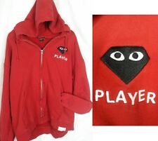 Diamond Supply Co x Comme Des Garcon Collab Hood RED Hoodie Sweater Sz XL Men's