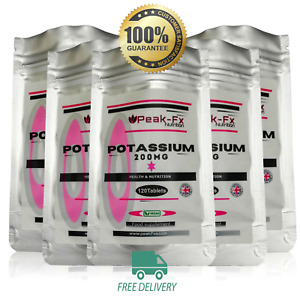 Potassium 200mg Tablets 60-120 Supports Normal Blood Pressure-General health