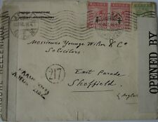 Greece: 1916 & 18 Censored Envelopes.