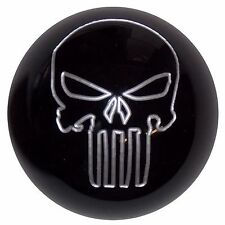 Black Punisher Skull shift knob for 2015-17 Mustang with rev. collar