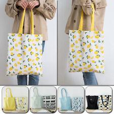 Women Cute Cotton Linen Shoulder Bag Eco Shopping Beach Travel Tote Handbag