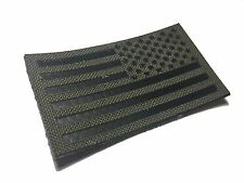 """Reversed Infrared reflective Ranger Green IR US Flag Patch 3.5x2"""" Special Forces"""