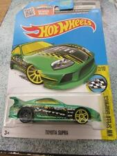 HOT WHEELS 2016 # 177/250 TOYOTA SUPRA VERDE HW Velocità grafica lunga CARD