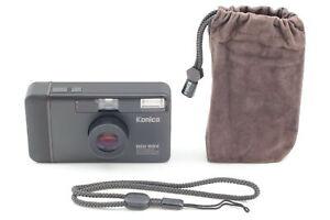 [TOP MINT w/case] Konica Big Mini BM-301 BLACK Point & Shoot 35mm From JAPAN