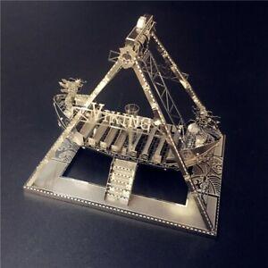 3D METAL MODEL KIT VIKING BOAT SHIP VIKINGS COMPLICATED PUZZLE MODELLING