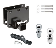 """Trailer Tow Hitch For 08-19 Toyota Sequoia Receiver w/ Dual Balls 1-7/8"""" & 2"""""""