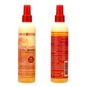 2 x Creme of Nature Argan Oil Leave-In Conditioner 8.45oz