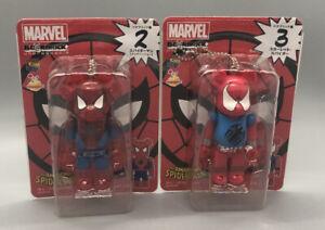 RARE Scarlet Spider-man + Spiderman 100% Bearbrick figure Medicom Marvel  2pcs