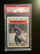 1982 O-Pee-Chee In Action Wayne Gretzky #107 PSA 10