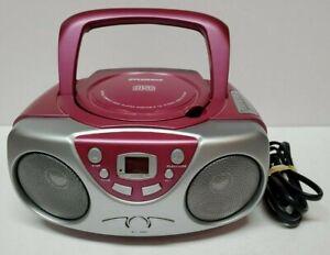 Sylvania Portable CD Radio AM/FM Player SRCD243PL-ASST6 Boombox PINK