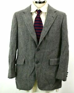 Sterling & Hunt Mens XL Gray Tweed Marble Detail Button Formal Sport Coat