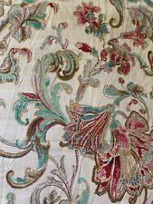 RALPH LAUREN Floral Paisley Full Flat Sheet & Two Standard Pillowcases Set