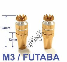 1Set M3 Golden Futaba / Spektrum DX6i DX7S DX8 DX9 TX Gimbal Sticks TH016-03002F